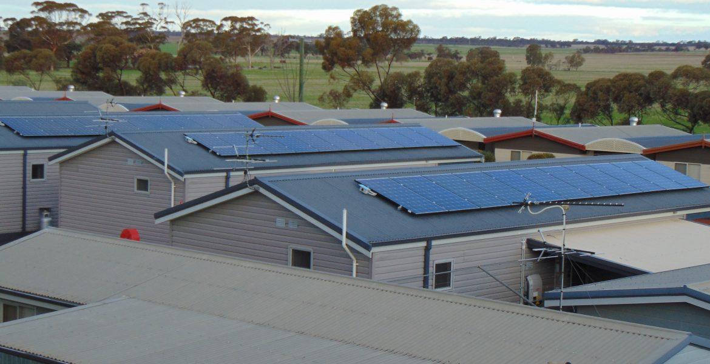 Solar Panels at Merridan Caravan Park