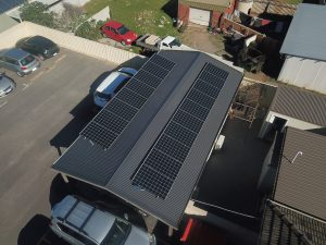 Ariel view of solar panels